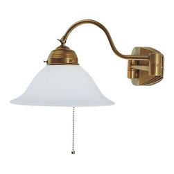 Berlin Brass lamps - Berlin Brass lamps A64-22opB Wall Sconce - The A64-22opB wall sconce by Berlin Brass Lamps is a work of art.