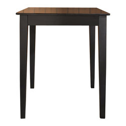 """Crosley Furniture - Crosley Furniture Tapered Leg Pub/Dining Table in Black Finish - Crosley Furniture - Pub Tables - KD20002BK - Constructed of solid hardwood and wood veneers this pub / high dining table is designed for longevity. This durable elegant and versatile table is perfect for the kitchen basement or your living room! The sturdy 32"""" top provides plentiful space for dining a game of cards or just a place for your favorite beverage while playing a game of pool."""