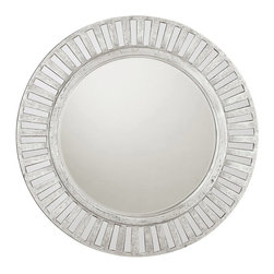 Capital Lighting - Capital Lighting Antique Silver Round Mirror X-344242M - Capital Lighting Antique Silver Round Mirror X-344242M