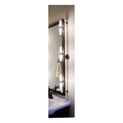 LBL Lighting - Twin Tube Bronze Bath Installation Kit - -Monorail lighting system that offers the ideal combination of direct and ambient lighting for any bathroom mirror application (please note mirror is not included). Each kit consists of:  -One 36 Monorail  -Three low-voltage twin tubes  -Two telescoping rigid standoffs. Adjusts from 2.5 to 4.  -One set of end caps  -One remote canopy and power feed combination  -One 75 watt electronic transformer. Additional transformer and wattage options available.  Please call Customer Service 877-723-5522 to order. LBL Lighting - KHBTWNTBFRBZ1B1004