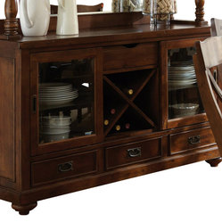 Steve Silver - Steve Silver Wyndham Server w/ Wine Storage - The Wyndham Dining Collection adds ...