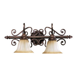 Quorum International - Quorum International 5126-2-44 Summerset Toasted Sienna Wall Sconce - Quorum International 5126-2-44 Summerset Bronze Wall Sconce