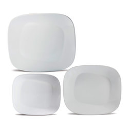 Oxford Porcelains - Karim Rashid Collection -White- Dinner set with 12pc - The set includes 4 Dessert plates, 4 Soup plates and 4 Dinner plates
