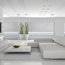 Modern Roller Shades by Fenstermann LLC