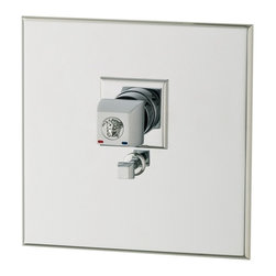Versace - Versace Unique Chrome Shower Thermostatic Mixer With Diverter - Versace Thermostatic Shower Mixer and Diverter