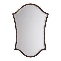 "Uttermost - Uttermost 13584 B Abra Shapley Vanity Mirror with Rope Detail narrow Frame - Uttermost 13584 B Grace Feyock Abra Vanity MirrorThis shapely, beveled mirror features a narrow frame finished in lightly distressed bronze with burnished details. Mirror has a generous 1 1/4"" bevel.Features:"