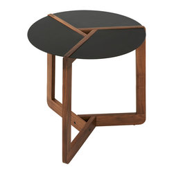 Blu Dot - Blu Dot Pi Small Side Table, Walnut - Finding a place in your home to set up this delightfully geometric table is as easy as … pie. Whether you're using it as a side unit or displaying it right in the center of a room, this table is always à la mode.