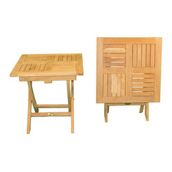 Teak Square Folding Side Table - When you need some extra help, the Teak Square Folding Table is like an extra set of hands.