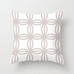 Connection Pillow Cover in Gray - Colorful circles make a classic link pattern across this pretty poplin pillow cover. Pair it with a textured cushion in a complementary color for a bold graphic punch!