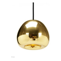 Tom Dixon - Tom Dixon Void Mini Pendant Light - The Void Mini Pendant Light is designed by Tom Dixon and made by Tom Dixon. Void Light Mini is a pendant light referencing the Olympic medals. Solid brass sheets are pressed, spun and brazed to form a double wall shade. The double walls reflect and soften the light emitted from a concealed halogen bulb. This mysterious lighting object is hand polished to create a mirrored surface which is then lacquered to maintain a high gloss finish. Void Mini is also available in polished Stainless Steel and Copper.An extension of the Void series. Made from pure metal with a 5 part tool, the solid metal sheets are pressed, spun and braised to form a complicated double wall shade. They are then hand polished to a mirror finish before being applied with a lacquer to maintain the high gloss finish. The double walls reflect and soften the light emitted from a concealed halogen lamp. Available in choice of brass, stainless steel, or copper.         Product Details: The Void Mini Pendant Light is designed by Tom Dixon and made by Tom Dixon. Void Light Mini is a pendant light referencing the Olympic medals. Solid brass sheets are pressed, spun and brazed to form a double wall shade. The double walls reflect and soften the light emitted from a concealed halogen bulb. This mysterious lighting object is hand polished to create a mirrored surface which is then lacquered to maintain a high gloss finish. Void Mini is also available in polished Stainless Steel and Copper.An extension of the Void series. Made from pure metal with a 5 part tool, the solid metal sheets are pressed, spun and braised to form a complicated double wall shade. They are then hand polished to a mirror finish before being applied with a lacquer to maintain the high gloss finish.  The double walls reflect and soften the light emitted from a concealed halogen lamp. Available in choice of brass, stainless steel, or copper. Details:                         Manufacturer:        
