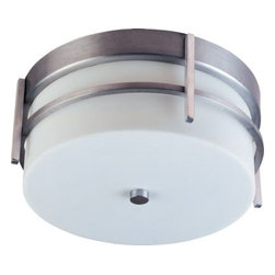 Maxim Lighting - Maxim Lighting 817WTBM Luna 2-Light Outdoor Ceiling Mount in Brushed Metal - Luna EE, a contemporary Style collection from Maxim Lighting, both indoor and outdoor sconces, pendants and flush mounts available in three finishes, Brushed Metal, Natural Iron or Oil Rubbed Bronze.