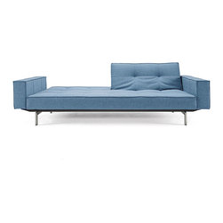 True Blue Sofa - This versatile sofa is designed to serve as a bed or a couch. It can fold every which way, adapting to your needs with ease. We love the color, too, which works well with a variety of palettes.