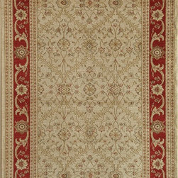 "Rugs America - Traditional Peshawar 5'3""x7'10"" Rectangle Trellis Cream Red Area Rug - The Peshawar area rug Collection offers an affordable assortment of Traditional stylings. Peshawar features a blend of natural Trellis Cream Brown color. Machine Made of Heat-Set Poly the Peshawar Collection is an intriguing compliment to any decor."