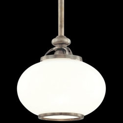 Hudson Valley Lighting - Canton Pendant by Hudson Valley Lighting - The Hudson Valley Canton Pendant enhances your room's atmosphere with a dramatic glow that can easily affect the mood and aesthetic look of your room. The Canton Pendant features a glass shade and metal body.