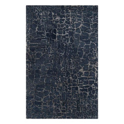 """Surya - Surya Banshee BAN-3306 (Sapphire Blue, Night Sky) 3'3"""" x 5'3"""" Rug - Surya's Banshee Collection is crafted hard twist wool with viscose accents. These rugs scream out for everyone's attention! Splashes of bold color reminiscent of modern art, Banshee is hand tufted 100% New Zealand wool with hard twist yarns in a multi-color effect with pops of viscose accents though out. This is the best in modern rug design."""