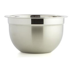 Stainless Steel 1.5-Quart Bowl - Timeless, all-purpose kitchen workhorses in durable stainless feature a dual finish contrasting matte exteriors with polished interiors. Dishwasher-safe bowls have flat bases to provide balance and stability for prep, mixing and serving.