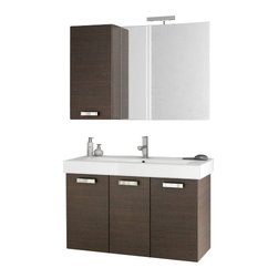ACF - 40 Inch Wenge Bathroom Vanity Set - This four piece vanity set was made in Italy by designer ACF.