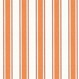 "Ballard Designs - Suzanne Kasler Nantucket Stripe Rust Sunbrella Fabric by the Yard - Content: 100% Acrylic. Repeat: Non-railroaded fabric,4"" Repeat. Care: Machine wash warm, Mild soap solution. Width: 54"" wide. Tuscan, rust & white stripes woven in a crisp canvas of washable, easy-care Sunbrella acrylic. Designed by Suzanne Kasler.  . .  .  . Because fabrics are available in whole-yard increments only, please round your yardage up to the next whole number if your project calls for fractions of a yard. To order fabric for Ballard Customer's-Own-Material (COM) items, please refer to the order instructions provided for each product.Ballard offers free fabric swatches: $5.95 Shipping and Processing, ten swatch maximum. Sorry, cut fabric is non-returnable."