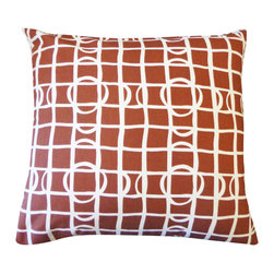 JITI - Planet Brown Large Pillow - 20x20 Planet Brown Pillow. 100% Cotton. Invisible Zipper. Dry Clean Only. Insert is 95% feathers and 5% down.