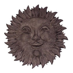 Sun Face Marble Resin Outdoor Wall Sculpture