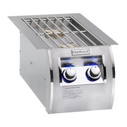 Fire Magic 32814 Built-In Echelon Diamond Double Side Burner - The product specialists at Hayneedle have been extensively trained by the manufacturer of Fire Magic grills. These specialists know the product inside and out, top to bottom, front to back. They're here to help you with every step of your Fire Magic grill purchasing process. Learn everything you need to know as you customize your grill island with drawers, doors, pizza ovens and more! Call 866-579-5183 to speak with a product specialist and start building your dream grill island today. Hours: Monday-Friday 9 a.m.-7 p.m. E.T.Sure, grilling brings casual fare to mind. But when you're grilling on a Fire Magic Echelon grill equipped with the Fire Magic 32814 Built-In Echelon Diamond Double Side Burner, a gourmet spread is practically a guarantee. Crafted with a durable stainless steel grid, curved face, and cover in a sleek stainless finish, this accessory unit gives you space to simmer sauces and prep side dishes while the entree cooks on the main grill. Included are two independently controlled 15,000 BTU stainless steel burners with easy precise flame-control valves, backlit safety knobs, and Echelon Diamond mirrored highlights.About Fire MagicFire Magic understands more about the amazing things that happen when flame and good food meet. For the last 70 years, they've set out to create the singularly best way to cook food outdoors, using the highest-quality materials, innovative design, and an absolutely relentless pursuit of perfection. With a complete line of luxury-grade grills, burners, accessories, and built-in grill island components, Fire Magic is ready to turn your home into the world's best outdoor kitchen.