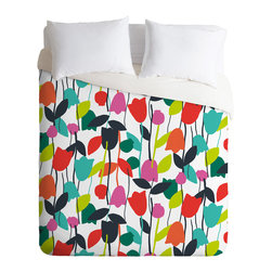 DENY Designs - Zoe Wodarz Lazy Day Floral Duvet Cover - Turn your basic, boring down comforter into the super stylish focal point of your bedroom. Our Luxe Duvet is made from a heavy-weight luxurious woven polyester with a 50% cotton/50% polyester cream bottom. It also includes a hidden zipper with interior corner ties to secure your comforter. it's comfy, fade-resistant, and custom printed for each and every customer.