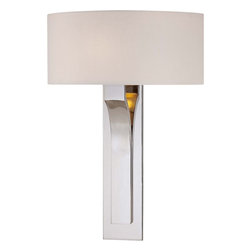 George Kovacs - P1705-613 Decorative 1 Light Wall Sconces In Polished Nickel with White Glass - Product