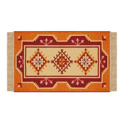 Reversible Authentic Kilim Rug / Size 3x4 -Rug of Ages Collection (Mohawk) - Brand: Rugs of Ages