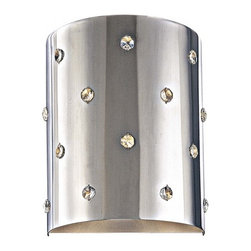 George Kovacs - Bling Bling 1-Light Wall Sconce - Can you have too much bling in your life? Not when it looks like this! Classy, stylish, clean and contemporary, it's a way to have your jewels and light too.