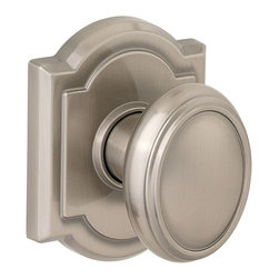 Baldwin Hardware - Prestige Carnaby Dummy Knob in Satin Nickel (351Cyk Arb 15 Cp) - Baldwin has a 60 year legacy of craftsmanship and innovation. Rated #1 in quality by builders and contractors, Baldwin is pleased to offer a line of luxury hardware for the discriminating consumer, our Prestige Series.