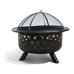 Sirio - Monterey Bronze Rubbed Steel FP-001 31-inch Outdoor Fire Pit - Add style and functionality to your outdoor space with this outdoor steel fire pit. Made of robust steel with a rubbed bronze finish for beauty and durability, the fire pit is portable and comes complete with a spark screen to keep you safe.