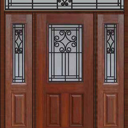 "Prehung Sidelites-Transom Door 80 Fiberglass Novara 1/2 Lite - SKU#    MCT012WN_DFHNG1-2RNGBrand    GlassCraftDoor Type    ExteriorManufacturer Collection    1/2 Lite Entry DoorsDoor Model    NovaraDoor Material    FiberglassWoodgrain    Veneer    Price    4105Door Size Options    32"" + 2( 14"")[5'-0""]  $036"" + 2( 14"")[5'-4""]  $036"" + 2( 12"")[5'-0""]  $0Core Type    Door Style    Door Lite Style    1/2 LiteDoor Panel Style    2 PanelHome Style Matching    Door Construction    Prehanging Options    PrehungPrehung Configuration    Door with Two Sidelites and Rectangular TransomDoor Thickness (Inches)    1.75Glass Thickness (Inches)    Glass Type    Double GlazedGlass Caming    Glass Features    Tempered glassGlass Style    Glass Texture    Glass Obscurity    Door Features    Door Approvals    Energy Star , TCEQ , Wind-load Rated , AMD , NFRC-IG , IRC , NFRC-Safety GlassDoor Finishes    Door Accessories    Weight (lbs)    663Crating Size    36"" (w)x 108"" (l)x 89"" (h)Lead Time    Slab Doors: 7 Business DaysPrehung:14 Business DaysPrefinished, PreHung:21 Business DaysWarranty    Five (5) years limited warranty for the Fiberglass FinishThree (3) years limited warranty for MasterGrain Door Panel"