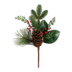 Silk Plants Direct - Silk Plants Direct Pine Cone, Berry and Pine Pick (Pack of 12) - Pack of 12. Silk Plants Direct specializes in manufacturing, design and supply of the most life-like, premium quality artificial plants, trees, flowers, arrangements, topiaries and containers for home, office and commercial use. Our Pine Cone, Berry and Pine Pick includes the following: