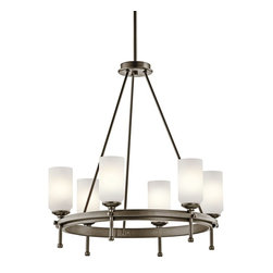 Kichler Lighting - Kichler Lighting Ladero Modern / Contemporary Chandelier X-ZWS74924 - Simple yet stunning, this six-light chandelier combines casual elegance with modern design. The Kichler Lighting Ladero contemporary chandelier features satin etched cased opal glass shades in a rich shadow bronze finished frame. The soft glow from the glass shades creates a frosted ambiance with a clean and smooth look.