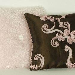 """Cotton Tale Designs - Cupcake Pillow Pack (2 Piece) - A quality baby bedding set is essential in making your nursery warm and inviting. All Cotton Tale patterns are made using the finest quality materials and are uniquely designed to create an elegant and sophisticated nursery. This pillow pack includes two pillows, both measuring 12 x 12, one in pink and chocolate taffeta and the other in Curly Q fleece with white button. Can be used together or separately. Pillows should never be used inside the crib, solely used for decoration purposes. Perfect for your little girls nursery. Spot clean only. Cotton poly blend shell and poly fill.;Dimensions: 12""""L x 12""""W x 3""""H"""