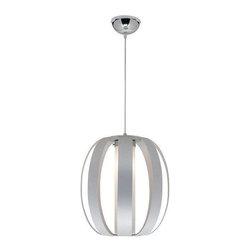 Access Lighting - Access Lighting 23426-ALU/OPL Helix Modern Pendant Light - Aluminum - Access Lighting 23426-ALU/OPL Helix Modern Pendant Light In Aluminum