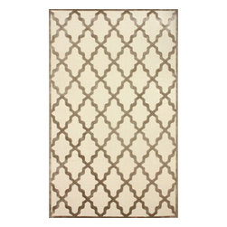 """nuLOOM - Contemporary 2' 6"""" x 8' Cream Machine Made Area Rug Trellis VL06 - Made from the finest materials in the world and with the uttermost care, our rugs are a great addition to your home."""