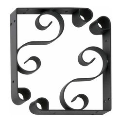 Renovators Supply - Shelf Brackets Black Wrought Iron Shelf Bracket RSF - Wrought Iron Shelf Bracket pair are protected with our exclusive RSF finish to prevent tarnishing. Place shelves where you want with these easy to install brackets.
