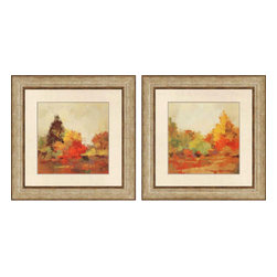 Paragon - Fall Forest PK/2 - Framed Art - Each product is custom made upon order so there might be small variations from the picture displayed. No two pieces are exactly alike.