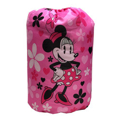 Jay Franco and Sons - Minnie Mouse Sleeping Bag Daisy Dots Slumber Set - Features: