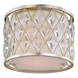 Maxim Lighting - Maxim Lighting 21451OFGS Diamond Golden Silver Flush Mount - 1 Bulb, Bulb Type: 100 Watt Incandescent