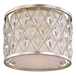 Maxim Lighting - Maxim Lighting 21451OFGS Diamond Golden Silver Flush Mount - 1 Bulb, Bulb Type: 100 Watt Incandescent