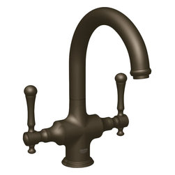 Grohe - Grohe 31055ZBE Oil Rubbed Bronze - Less Handles Bridgeford Two Handle Bar Faucet - Grohe 31055Zbe Oil Rubbed Bronze - Less Handles Bridgeford two handle Bar Faucet