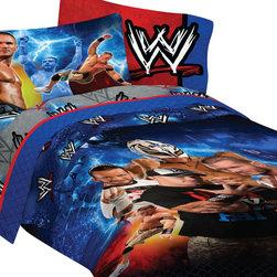 Store51 LLC - WWE Wrestling Champions 5pc John Cena Full Bedding Set - Features: