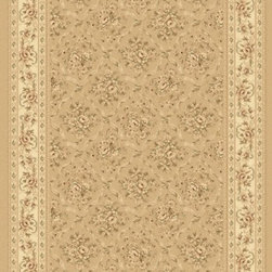 "Dynamic Rugs - Dynamic Rugs Rug, Malt, 5' 3"" x7' 7"" - The Legacy Collection by Dynamic Rugs features persian styled rugs with 800,000 points with traditional colors."