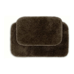 Sands Rug - Posh Plush Cafe Noir Washable Bath Rug (Set of 2) - Revel in spa-like luxury every time you step into your bath with the Posh Plush collection of bath rugs. The amazingly soft, yet durable, nylon plush is machine washable, and each floor piece has a non-skid latex backing for safety.