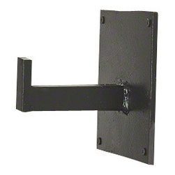 Studio A - Rustic Panel Brackets - Iron hooks provide a contemporary storage solution.