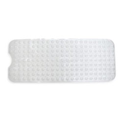 Ginsey - Ginsey Mega Bathtub Mat - This mega bathtub mat provides a safe surface to bath your little one. It features air-cushioned bubbles that make a comfortable seat and simply adheres by moistening the suction cups and pushing onto the non-textured tub floor.