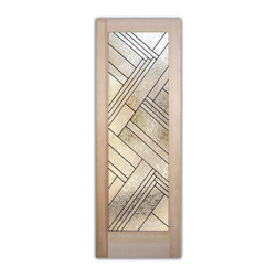 """Z Textures Glass Front Doors - Glass Entry Doors - Frosted Glass Designs - Glass Front Doors, Entry Doors that Make a Statement! Your front door is your home's initial focal point and glass doors by Sans Soucie with frosted, etched glass designs create a unique, custom effect while providing privacy AND light thru exquisite, quality designs!  Available any size, all glass front doors are custom made to order and ship worldwide at reasonable prices.  Exterior entry door glass will be tempered, dual pane (an equally efficient single 1/2"""" thick pane is used in our fiberglass doors).  Selling both the glass inserts for front doors as well as entry doors with glass, Sans Soucie art glass doors are available in 8 woods and Plastpro fiberglass in both smooth surface or a grain texture, as a slab door or prehung in the jamb - any size.   From simple frosted glass effects to our more extravagant 3D sculpture carved, painted and stained glass .. and everything in between, Sans Soucie designs are sandblasted different ways creating not only different effects, but different price levels.   The """"same design, done different"""" - with no limit to design, there's something for every decor, any style.  The privacy you need is created without sacrificing sunlight!  Price will vary by design complexity and type of effect:  Specialty Glass and Frosted Glass.  Inside our fun, easy to use online Glass and Entry Door Designer, you'll get instant pricing on everything as YOU customize your door and glass!  When you're all finished designing, you can place your order online!   We're here to answer any questions you have so please call (877) 331-339 to speak to a knowledgeable representative!   Doors ship worldwide at reasonable prices from Palm Desert, California with delivery time ranges between 3-8 weeks depending on door material and glass effect selected.  (Doug Fir or Fiberglass in Frosted Effects allow 3 weeks, Specialty Woods and Glass  [2D, 3D, Leaded] will require approx. 8 weeks)."""