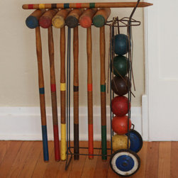 Vintage Croquet Set for Six Players with Caddy by Nine Star Vintage - You could buy a new set, but I like the look and feel of a vintage croquet set. Leave it set up in the backyard and you've got fun for everyone.